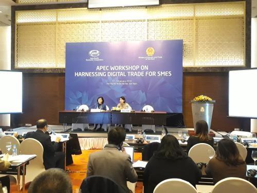 En Hanoi seminario sobre el fomento de comercio digital para empresas pequenas y medianas hinh anh 1