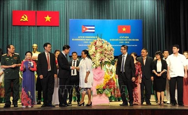 Conmemoran en Ciudad Ho Chi Minh aniversario 60 de la Revolucion cubana hinh anh 1