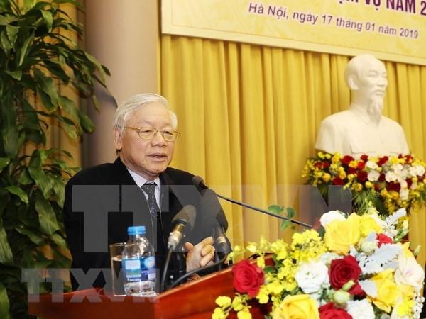 Destaca maximo dirigente vietnamita contribucion de la Oficina Presidencial a los exitos del pais hinh anh 1
