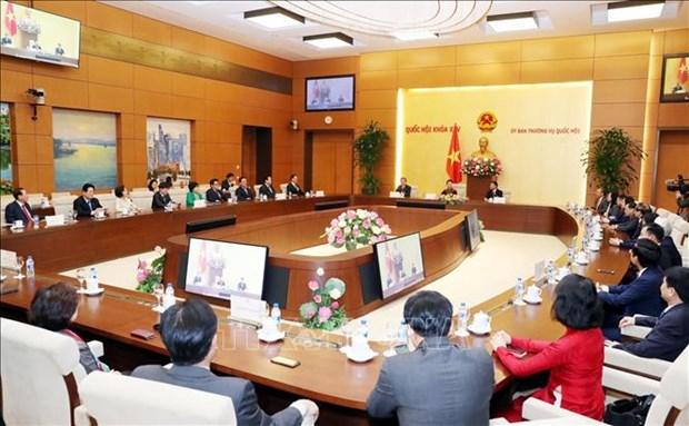 Presidenta parlamentaria recibe al Grupo Parlamentario de Amistad Corea del Sur-Vietnam hinh anh 1