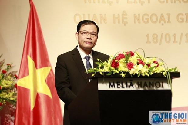 Celebran en Hanoi aniversario 69 del establecimiento de relaciones diplomaticas entre Vietnam y China hinh anh 1