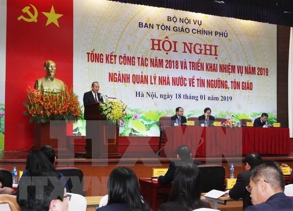 Vicepremier vietnamita dirige el trabajo religioso para 2019 hinh anh 1