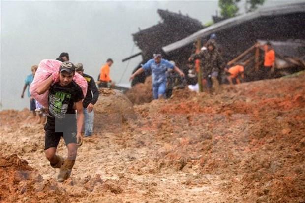 Al menos 32 muertos en Indonesia por deslizamiento de tierra hinh anh 1