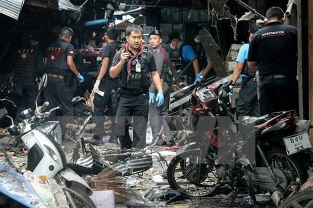 Tailandia: siete agentes de seguridad heridos tras atentados con bombas hinh anh 1
