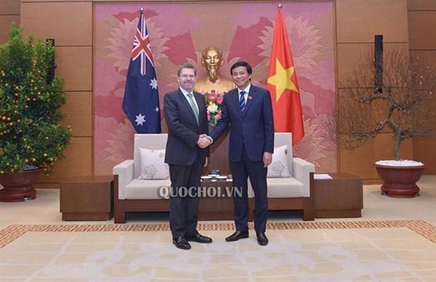 Vietnam pide apoyo de Australia al desarrollo del parlamento electronico hinh anh 1