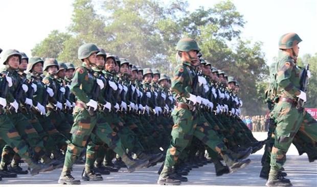 Conmnemoran en Laos el 70 Aniversario de la fundacion del Ejercito Popular hinh anh 1