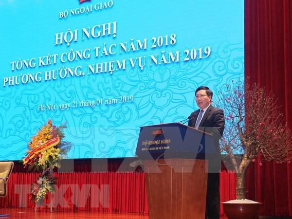 Resalta canciller vietnamita importancia del trabajo diplomatico en aras de intereses nacionales hinh anh 1
