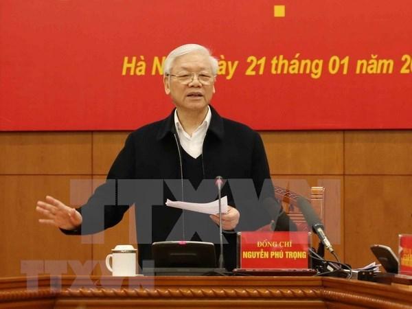 Insta maximo dirigente vietnamita a fortalecer el marco legal anticorrupcion hinh anh 1