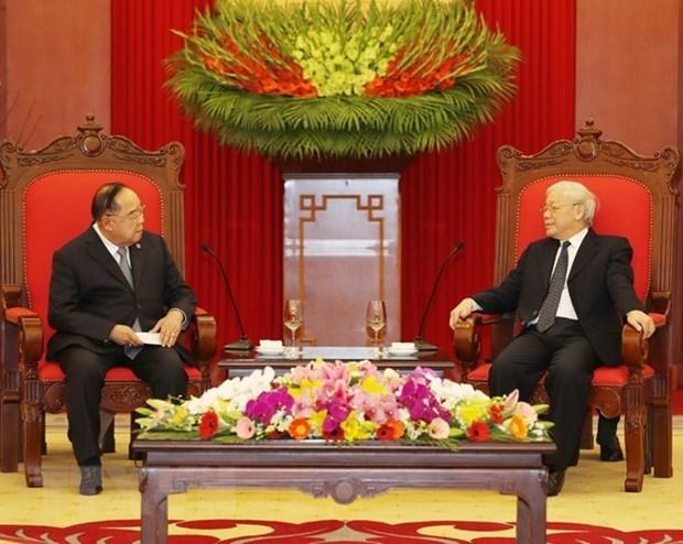 Vietnam atesora amistad con Tailandia, afirma maximo dirigente politico hinh anh 1