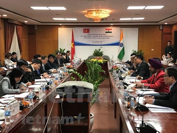 Promueven Vietnam e India cooperacion bilateral en economia y comercio hinh anh 1