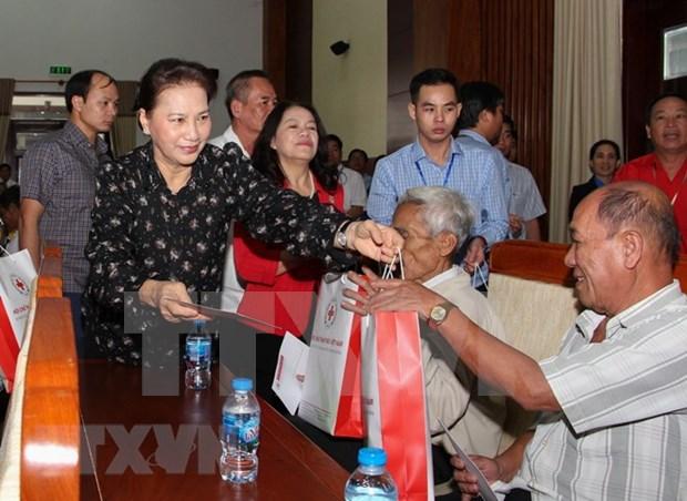 Presidenta del Parlamento de Vietnam realiza visita de trabajo a provincia surena de Hau Giang hinh anh 1
