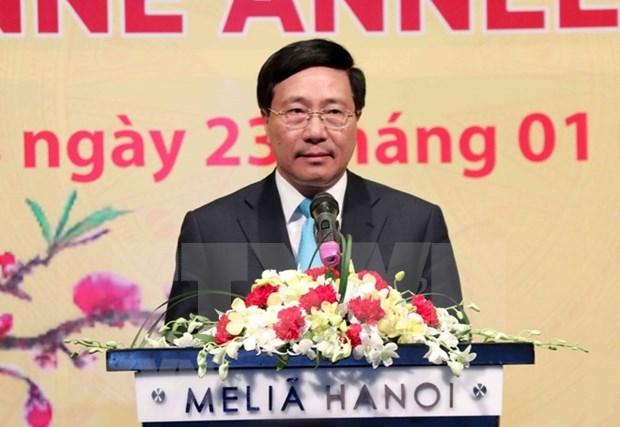 Destacan aportes del cuerpo diplomatico a logros de Vietnam en 2018 hinh anh 1