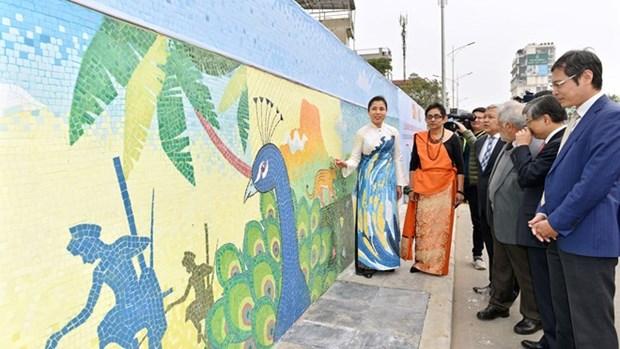 Presentan en Mural Ceramico de Hanoi bellezas naturales y culturales de Sri Lanka hinh anh 1