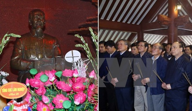 Premier vietnamita rinde tributo a Presidente Ho Chi Minh en ocasion del Tet hinh anh 1