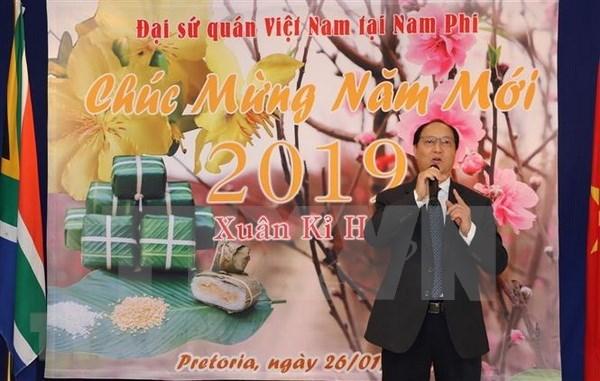 Celebran vietnamitas en Africa fiestas del Nuevo Ano Lunar hinh anh 1
