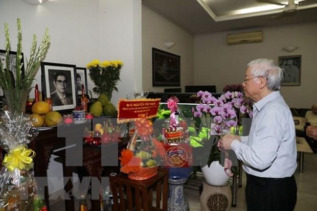 Maximo dirigente de Vietnam rinde tributo al secretario general Nguyen Van Linh hinh anh 1