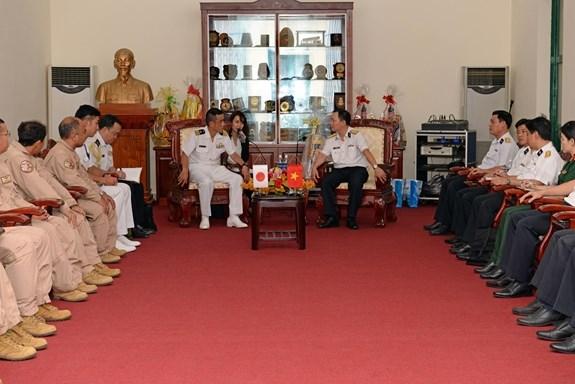 Visita Vietnam delegacion de la Fuerza Maritima de Autodefensa de Japon hinh anh 1