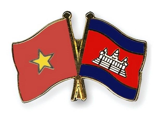 Autoridades de provincias camboyanas felicitan a localidad vietnamita por Ano Nuevo Lunar hinh anh 1