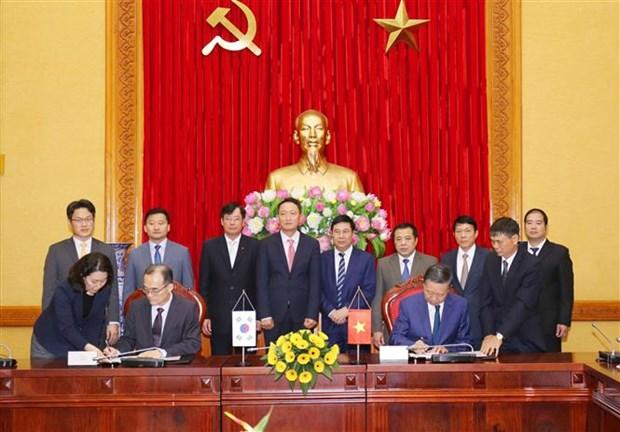 Firman Vietnam y Corea del Sur acuerdo de cooperacion contra crimenes transnacionales hinh anh 1