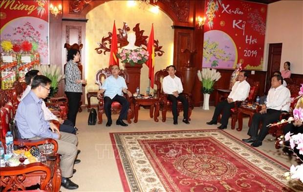Autoridades de Ciudad Ho Chi Minh felicitan a provincia Tay Ninh por el Tet hinh anh 1