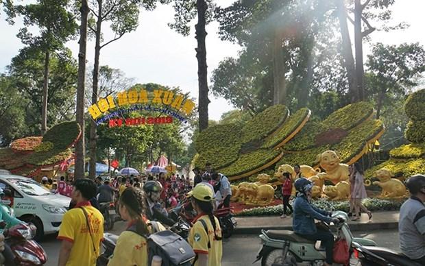 Inauguran festival de artes florales de Vietnam en Ciudad Ho Chi Minh hinh anh 1