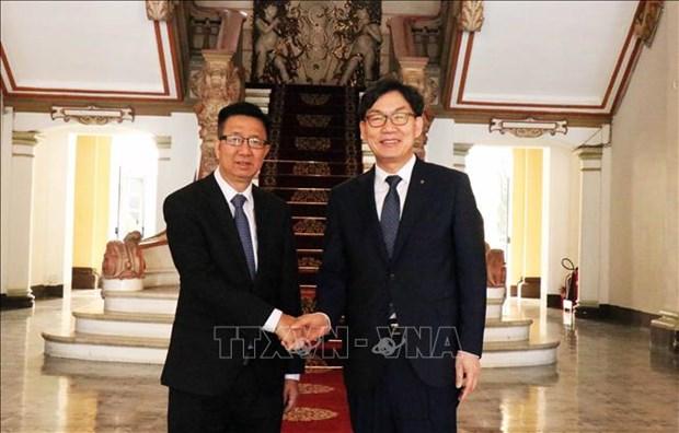 Ciudad Ho Chi Minh reafirma apoyo a sucursal del banco sudcoreano Nonghuyp hinh anh 1
