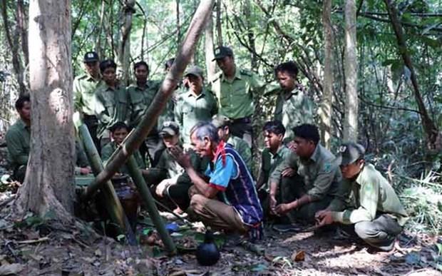 Rinden culto en Vietnam al dios de los bosques hinh anh 1