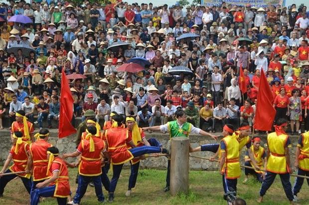 Ritos y juegos del tiro de cuerda, patrimonio cultural inmaterial de Vietnam hinh anh 1