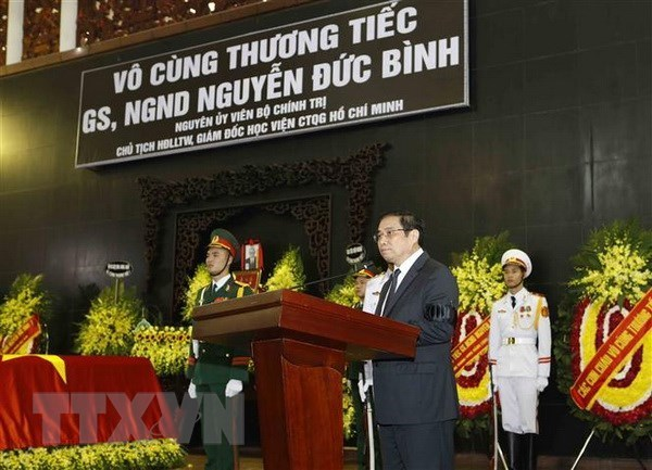 Realizan homenaje postumo a ex miembro del Buro Politico del Partido Comunista de Vietnam hinh anh 1
