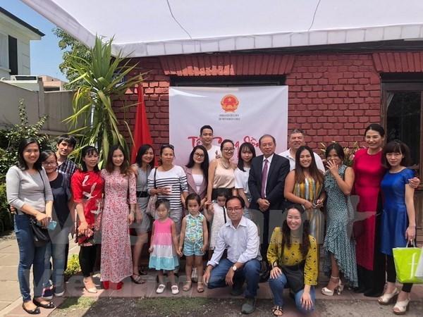 Vietnamitas en Rusia y Chile celebran el tradicional festival de Ano Nuevo Lunar hinh anh 1