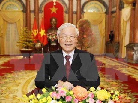 Mensajes de felicitacion del Presidente vietnamita en Ano del Cerdo hinh anh 1