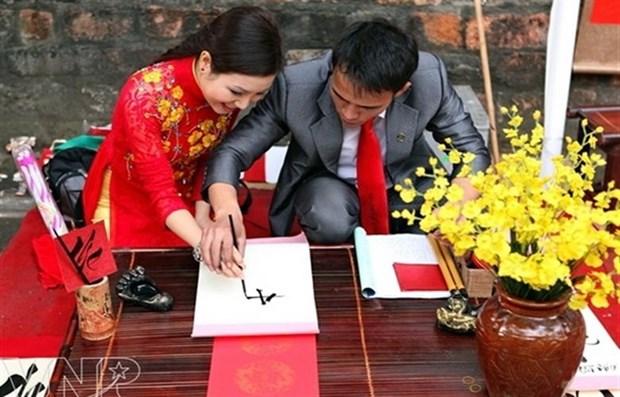 Arte de caligrafia atrae a jovenes hinh anh 1