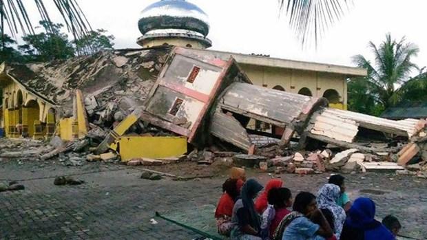 Ocurre sismo de 5,7 grados en escala de Ritcher en Indonesia hinh anh 1
