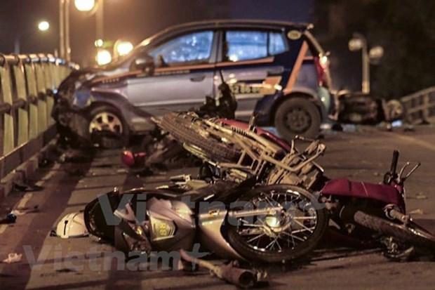 En seis dias festivos, 112 muertos por accidentes de trafico en Vietnam hinh anh 1