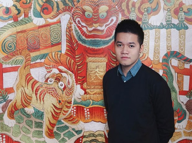 Restauracion de pintura folclorica tradicional hinh anh 1