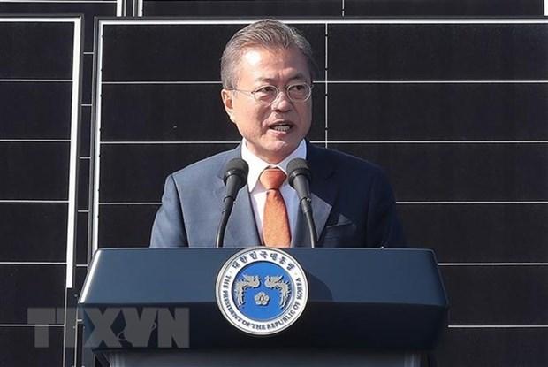 Presidente surcoreano optimista por la proxima cumbre Kim-Trump en Hanoi hinh anh 1