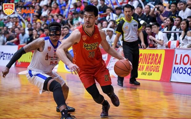 Saigon Heat pierde ante Singapore Slingers en liga de baloncesto de ASEAN hinh anh 1