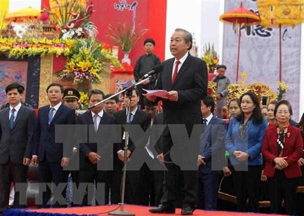 Vicepremier vietnamita asiste a festival para promover produccion agricola hinh anh 1