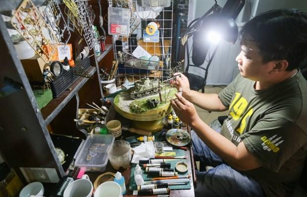 Artesano vietnamita Xuan Giang, el mago de las maquetas hinh anh 1