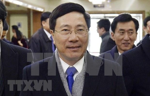 Vicepremier vietnamita inicia visita official a Corea del Norte hinh anh 1