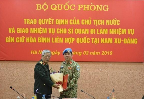 Otro oficial vietnamita asignado al servicio de mantenimiento de la paz en Sudan del Sur hinh anh 1