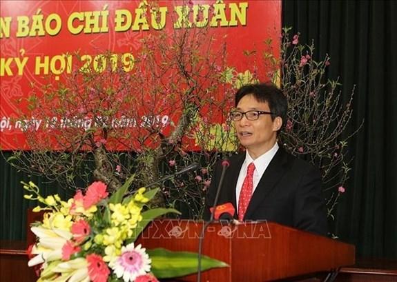 Efectuan primera reunion de la prensa vietnamita en ocasion de Nuevo Ano Lunar hinh anh 1