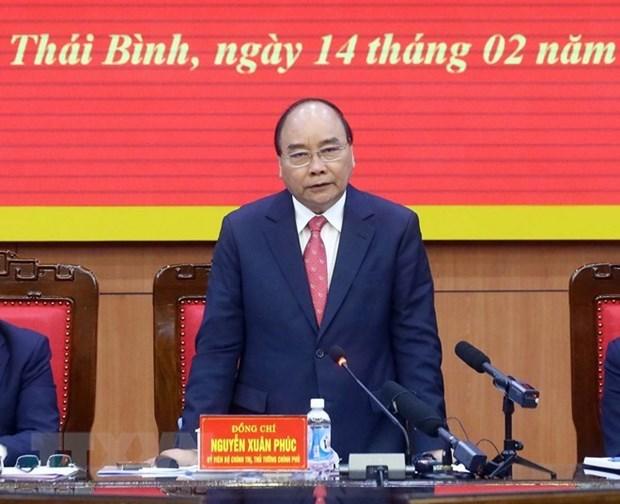 Premier vietnamita destaca logros socioeconomicos de provincia nortena de Thai Binh hinh anh 1