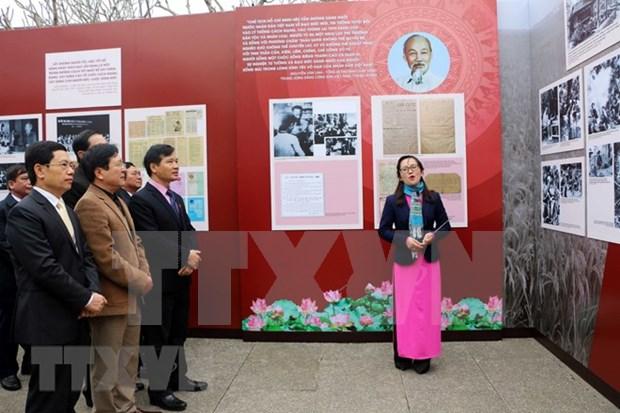 Exposicion artistica celebra llegada de la primavera y fundacion del Partido Comunista de Vietnam hinh anh 1