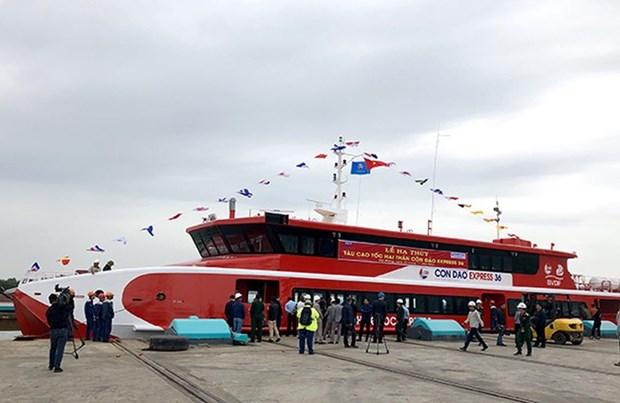 Inauguran en Vietnam linea de transporte maritimo de alta velocidad entre Vung Tau y la isla de Con Dao hinh anh 1