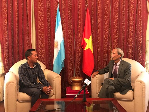 Visita del presidente argentino a Vietnam marcara hito importante en nexos bilaterales, afirma embajador hinh anh 1