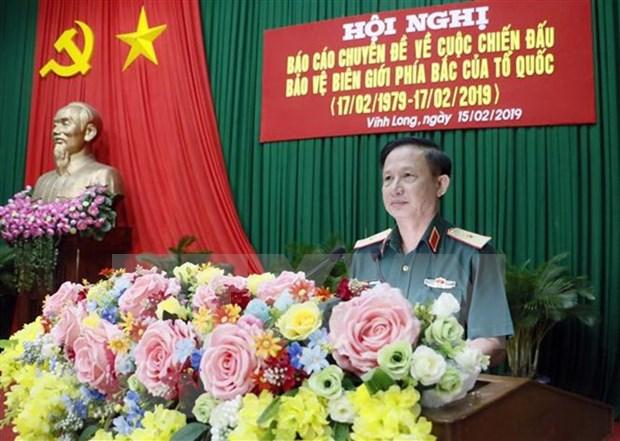 Seminario sobre lucha de defensa de soberania en frontera nortena en Vinh Long hinh anh 1