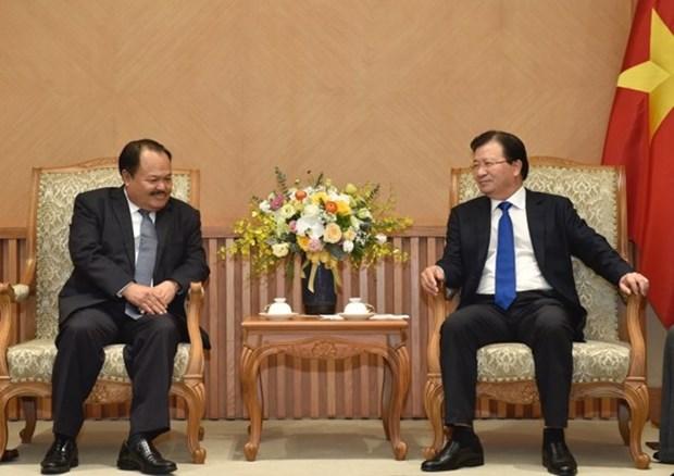 Respalda Vicepremier de Vietnam acuerdo de cooperacion energetica con Laos hinh anh 1