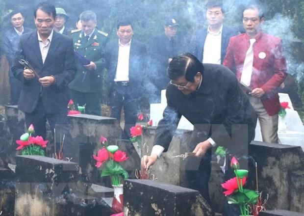 Amplias actividades en homenaje a martires vietnamitas caidos en defensa de la frontera hinh anh 1