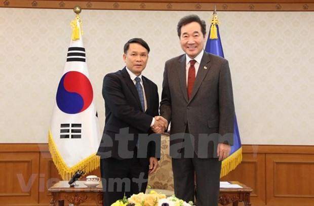 Realiza delegacion de Agencia Vietnamita de Noticias visita a Corea del Sur hinh anh 1